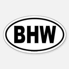 BHW Oval Decal