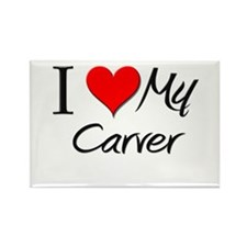 I Heart My Carver Rectangle Magnet