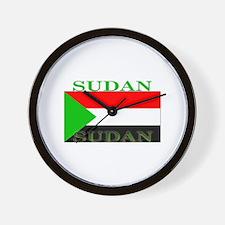 Sudan Sudanese Flag Wall Clock