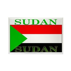 Sudan Sudanese Flag Rectangle Magnet