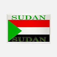 Sudan Sudanese Flag Rectangle Magnet