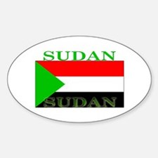Sudan Sudanese Flag Oval Decal