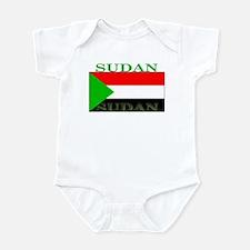 Sudan Sudanese Flag Infant Bodysuit