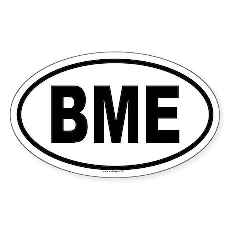 BME Oval Sticker