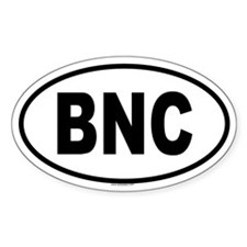 BNC Oval Decal
