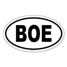 BOE Oval Decal
