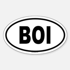 BOI Oval Decal