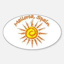 Mallorca, Spain Oval Decal