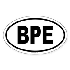 BPE Oval Decal