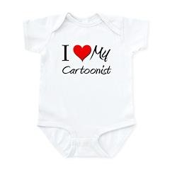 I Heart My Cartoonist Infant Bodysuit