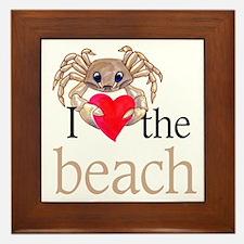 I heart the beach Framed Tile