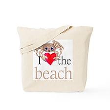 I heart the beach Tote Bag