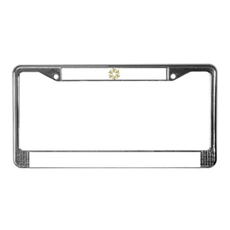 Checkered Inlay License Plate Frame