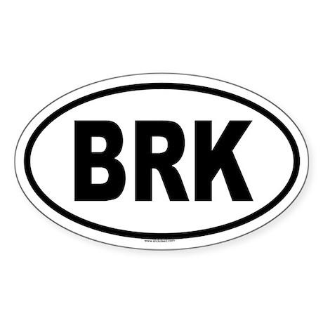 BRK Oval Sticker