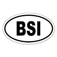 BSI Oval Decal