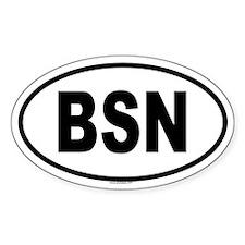 BSN Oval Decal
