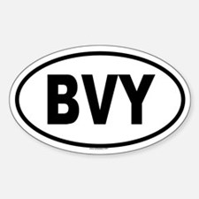 BVY Oval Decal