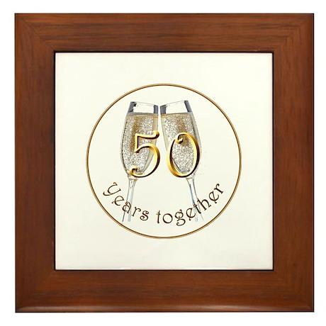 50th Anniversary Framed Tile