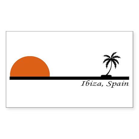 Ibiza, Spain Rectangle Sticker