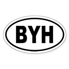 BYH Oval Decal