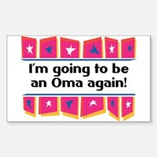 I'm Going to be an Oma Again! Sticker (Rectangular