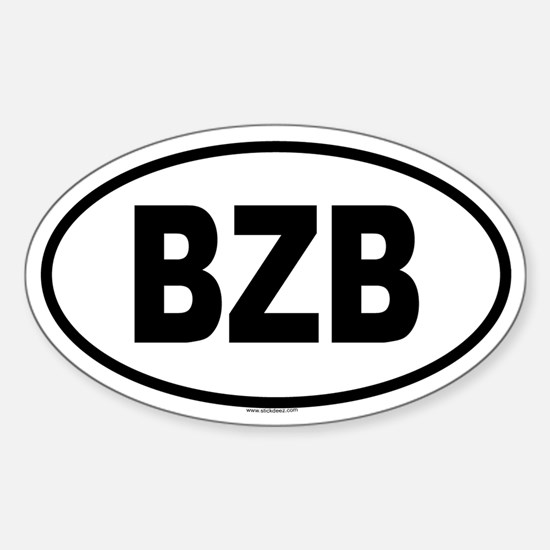 BZB Oval Decal
