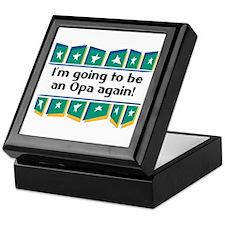 I'm Going to be an Opa Again! Keepsake Box