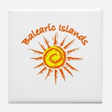 Balearic Islands Tile Coaster