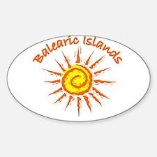 Balearic Islands Oval Decal