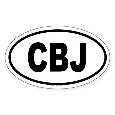CBJ Oval Sticker