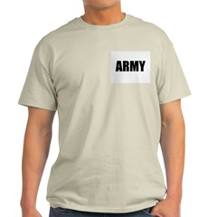 ARMY Ash Grey T-Shirt. Support Our Troops