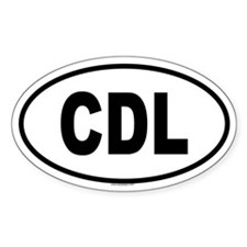 CDL Oval Decal
