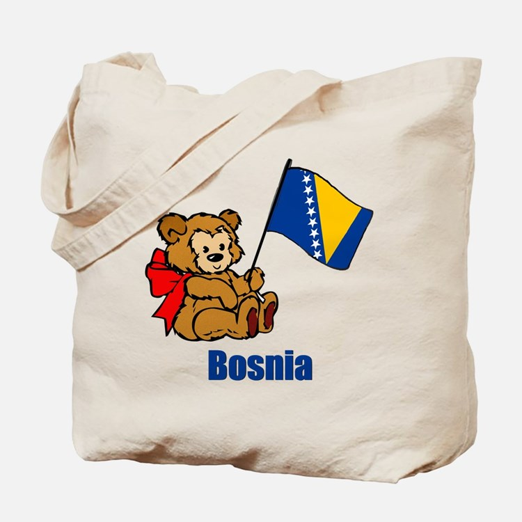 Bosnia Teddy Bear Tote Bag