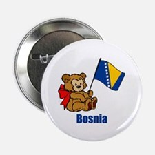 "Bosnia Teddy Bear 2.25"" Button (10 pack)"