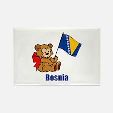 Bosnia Teddy Bear Rectangle Magnet