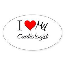 I Heart My Cardiologist Oval Decal