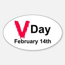 Bloody V Feb 14 Oval Decal