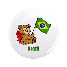 """Brazil Teddy Bear 3.5"""" Button (100 pack)"""
