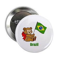 """Brazil Teddy Bear 2.25"""" Button (10 pack)"""