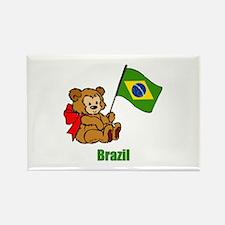 Brazil Teddy Bear Rectangle Magnet