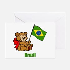 Brazil Teddy Bear Greeting Card