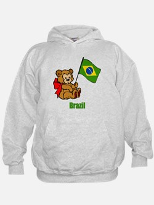 Brazil Teddy Bear Hoodie