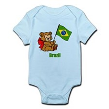 Brazil Teddy Bear Infant Bodysuit
