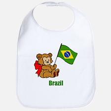 Brazil Teddy Bear Bib
