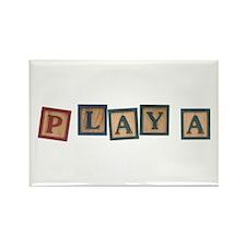 Playa Rectangle Magnet