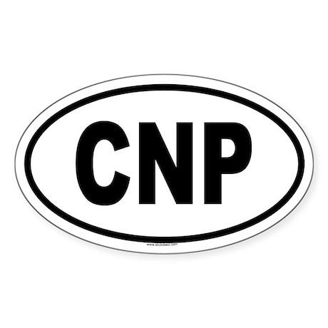 CNP Oval Sticker
