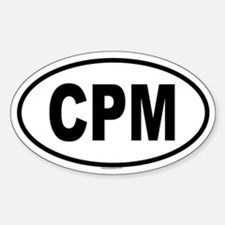 CPM Oval Decal