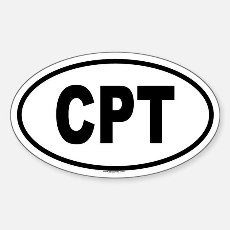 CPT Oval Decal