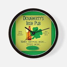 Dougherty's Irish Pub Wall Clock