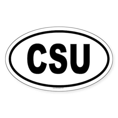 CSU Oval Sticker